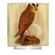 The Java Owl Cassell Shower Curtain