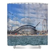 The Jersey Shore Shower Curtain by Lori Deiter