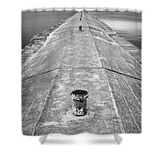 The Jetty Shower Curtain by Adam Romanowicz