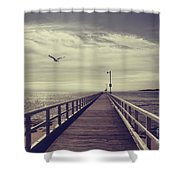 The Jetty Shower Curtain