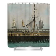The Jetty Of Boulogne-ser-mer Shower Curtain