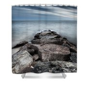 The Jetty Square Shower Curtain
