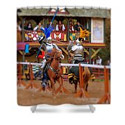 The Jousters 2 Shower Curtain