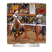 The Jousters 3 Shower Curtain