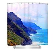 The Kalalau Trail Shower Curtain