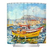 The Kalk Bay Harbour Shower Curtain