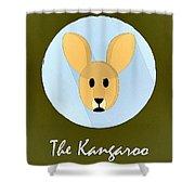 The Kangaroo Cute Portrait Shower Curtain
