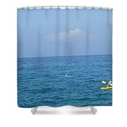 The Kayak And The Gull Shower Curtain