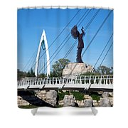 The Keeper Of The Plains In Wichita Shower Curtain
