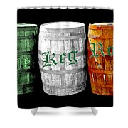The Keg Room Irish Flag Colors Old English Hunter Green Wave Shower Curtain