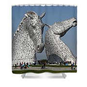 The Kelpies Shower Curtain