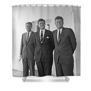 The Kennedy Brothers Shower Curtain