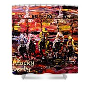 The Kentucky Derby - And They're Off  Shower Curtain