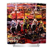 The Kentucky Derby - And They're Off Without Year  Shower Curtain