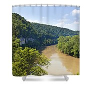 The Kentucky River Shower Curtain