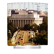 The Key Bridge And Lincoln Memorial Shower Curtain
