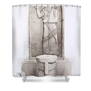 The King And Sacrificial Altar, Nimrud Shower Curtain
