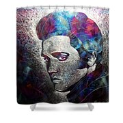 The King Shower Curtain by Chris Mackie
