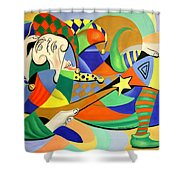 The Kings Jester Shower Curtain