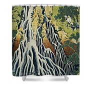 The Kirifuri Waterfall Shower Curtain by Hokusai