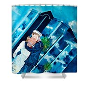 The Kiss At One Tower Shower Curtain