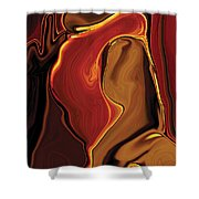 The Kiss In Red Shower Curtain