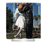 The Kiss - Sailor And Nurse - Sarasota  Shower Curtain