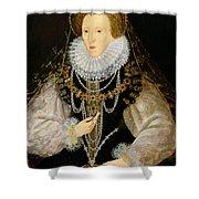 The Kitchener Portrait Of Queen Shower Curtain