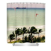 The Kite Surfers Shower Curtain