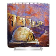 The Horno At Acoma Shower Curtain