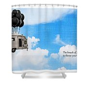 The Knack Of Flying Shower Curtain by Edward Fielding