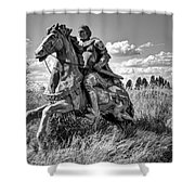 The Knight Goes Forth Shower Curtain by Daniel Hagerman