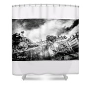 The Knight Of Freedom Shower Curtain