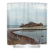 The Knob - Quissett - Cape Cod Shower Curtain
