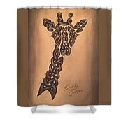 The Knotty Giraffe Shower Curtain