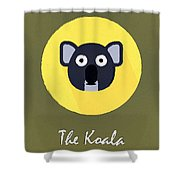 The Koala Cute Portrait Shower Curtain