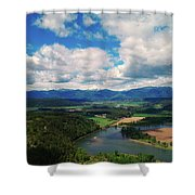 The Kootenai River Shower Curtain