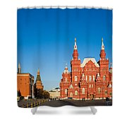 The Kremlin Towers And The State Museum Of Russian History Shower Curtain