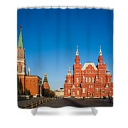 The Kremlin Towers And The State Museum Of Russian History - Square Shower Curtain