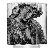The Lady In Mourning 03 Bw Shower Curtain