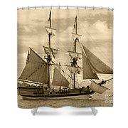 The Lady Washington Ship Shower Curtain