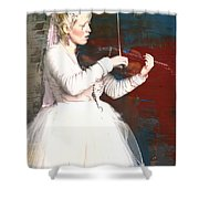 The Lady With The Violin Shower Curtain