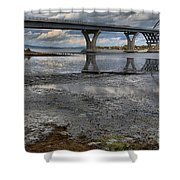 The Lake Champlain Bridge From Cown Point Shower Curtain