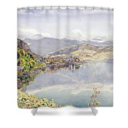 The Lake Of Lucerne, Mount Pilatus Shower Curtain