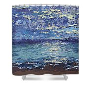 The Lake On A Cloudy Day In October Shower Curtain