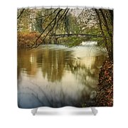 The Lambro River Shower Curtain