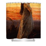 The Lament Of Jephthahs Daughter Shower Curtain