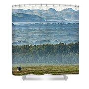 The Land Of A Thousand Hills Shower Curtain
