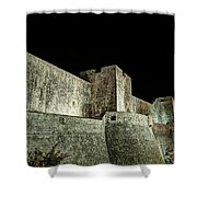 The Landside Walls Of Dubrovnik At Night No1 Shower Curtain
