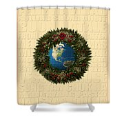 The Language Of Christmas 2 Shower Curtain